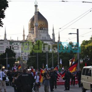 Der Naziaufmarsch auf der Ostraallee