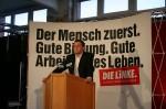 André Schollbach bei einem Parteitag der Linken