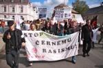 Demonstration gegen Roma in Tschechien