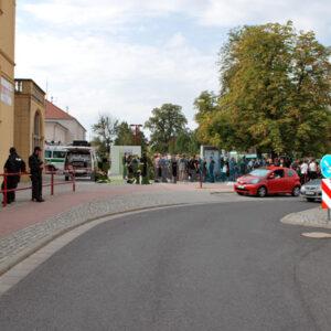Am Startpunkt: Bahnhof in Hoyerswerda