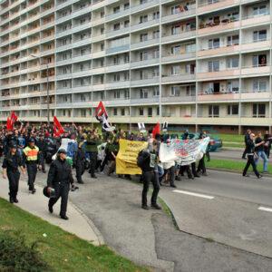 Gedenkdemonstration an die rassistischen Pogrome von 1991