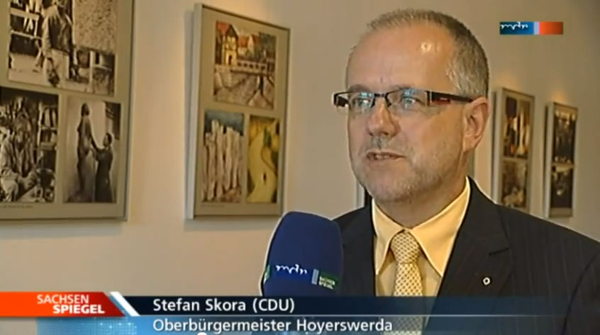 Stefan Skora (CDU) im Interview beim Sachsenspiegel (Screenshot)