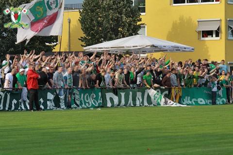 Fans der BSG Chemie Leipzig in Heidenau