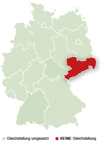 Keine Gleichstellung in Sachsen