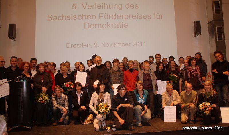 Preisträger_innen des diesjährigen Demokratiepreises