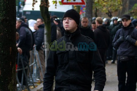 Marco Eißler auf einer Nazidemonstration 2009 kurz nach seiner Verurteilung