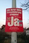 Wahlwerbung für kommunale Krankenhäuser