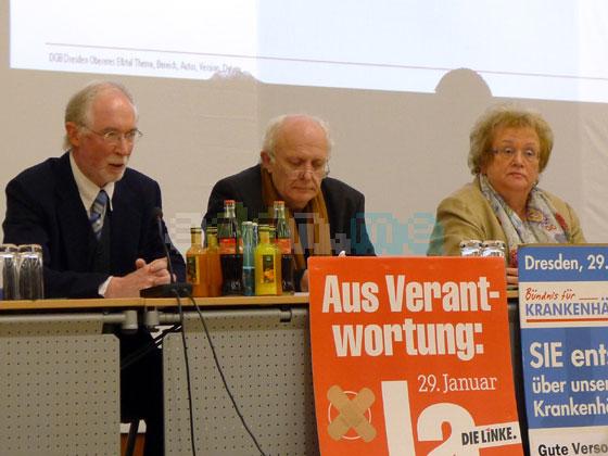 Befürworter der informellen Privatisierung (v.l.n.r.: Christoph Hille (Bürgerfraktion), Michael Schmelich (Die Grünen), Christa Müller (CDU))