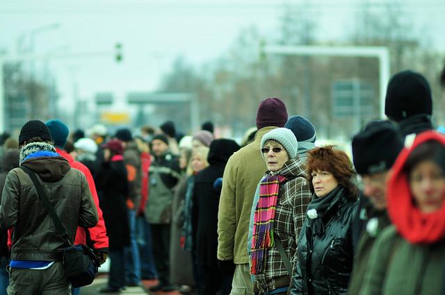 Auch 2012 wird die Menschenkette einen Naziaufmarsch am 13. Februar nicht verhindern (Quelle: flickr.com/photos/realname/)