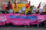 Fronttransparent der Großdemonstration am 18. Februar in Dresden