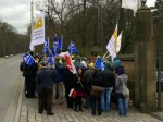Sozialprotest vor Schloss Eckberg