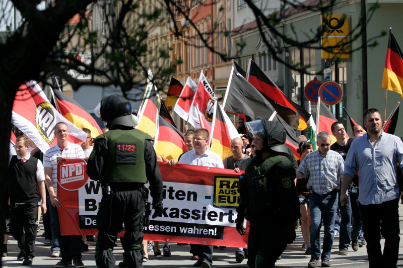 Nazidemonstration am 1. Mai in Bautzen (Quelle: flickr.com/photos/mf-art/)