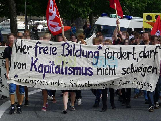 Wer freie Bildung fordert, darf von Kapitalismus nicht schweigen.