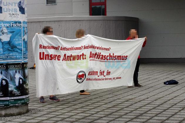 Protest gegen die Extremismuskonferenz in Riesa