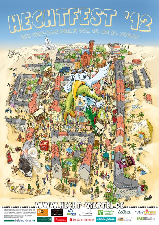 Plakat zu Hechtfest 2012