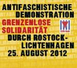 Demonstration am 25. August 2012 in Rostock-Lichtenhagen
