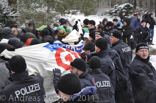 Protest auf dem Heidefriedhof ein Jahr zuvor (Quelle: flickr.com/photos/andreas-potzlow/)