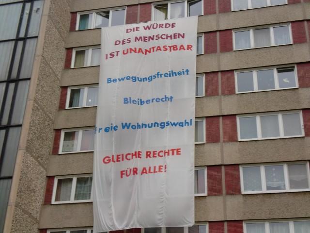 Transparent am 1. November in der Dresdner Johannstadt (Quelle: namf.blogsport.de/)