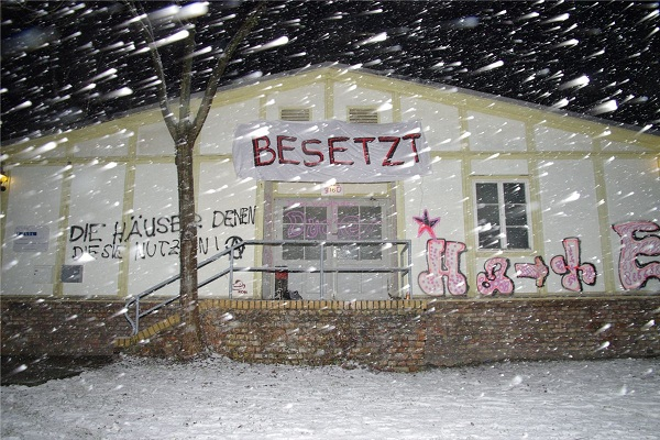 Freiraumbesetzung an der TU Dresden (Quelle: libertaeres-netzwerk.info)