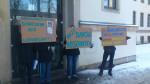 Protest gegen eine Fachtagung des Verfassungsschutz (Quelle: Sachsens Demokratie)