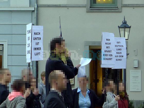 Kundgebung vor der Frauenkirche