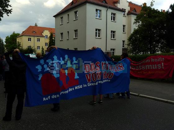 Kundgebung in der Saalhausener Straße