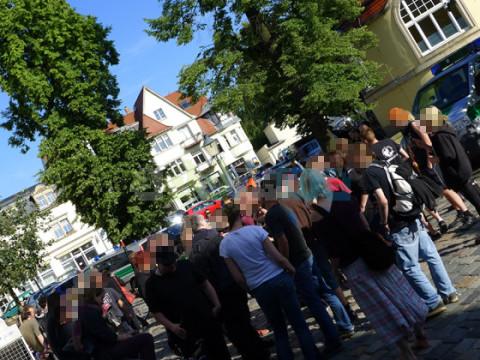 Kundgebung am Weißen Hirsch