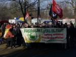 Demonstration auf dem Weg in die Görlitzer Straße