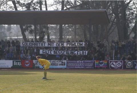 Solidaritätsaktion mit dem Pawlow bei Tennis Borussia Berlin (Quelle: Facebook)