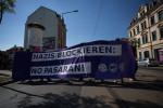 Eine Blockade auf der Leipziger Straße (Quelle: flickr.com/photos/mf-art/14366775222)