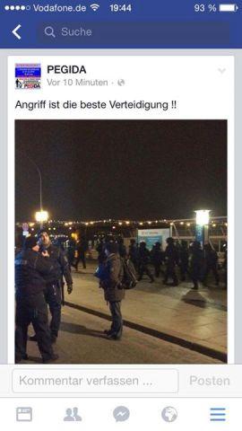 Aufruf  von PEGIDA (Quelle: Screenshot Facebook)