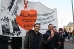 Protest am 28. Februar auf dem Theaterplatz (Quelle: twitter.com/AsylumMovement)