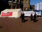 Protestcamp auf historischem Untergrund (Quelle: twitter.com/AsylumMovement/)