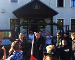 Besorgte Bürger beim Pöbeln in Freital (Quelle: Facebook)