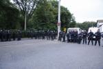 Polizeiaufmarsch am 17. Juni in Niedersedlitz (Quelle: twitter.com/johannesgrunert)