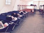 Schlafsituation im Zeltlager in Dresden (Quelle: twitter.com/ziehm/)