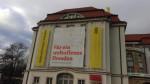Klare Botschaft am Dresdner Schauspielhaus (Quelle: twitter.com/Fl0range/)