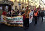 Kobanê-Solidaritätsdemonstration auf der Alaunstraße