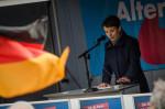 Frauke Petry auf einer Kundgebung der AfD im November in Leipzig (Quelle: flickr.com/photos/110931166@N08/)