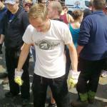 Julian Monaco während des Elbehochwassers im Juni 2013 (Quelle: Facebook)