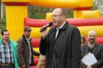 Oberbürgermeister Olaf Raschke bei der Eröffnung am Samstag (Quelle: Facebook)