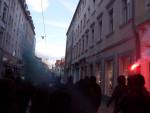 Spontandemonstration am 22. April auf der Alaunstraße (Quelle: twitter.com/Frau_Altmann)
