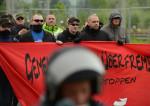 Timo Schulz (rechts) im Juni 2013 beim TddZ in Wolfsburg (Quelle: antifa-recherche)
