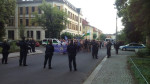 Rechter Protest in Laubegast (Quelle: twitter.com/streetcoverage/)