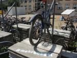 Fahrradparkplatz an der TU Dresden (Quelle: Hochschulgruppe Fahrrad an der TU Dresden)