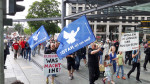 Endgame-Protest am Postplatz (Quelle: twitter.com/jonas_fedders/)