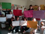 Riesaer Mitschülerinnen und Mitschüler zeigen sich solidarisch (Quelle: siesollenbleiben.noblogs.org)