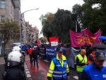 Protest am Vorabend des 3. Oktobers in der Südvorstadt (Quelle: 3oct.net)