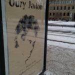 Plakataktion auf der Sachsenallee