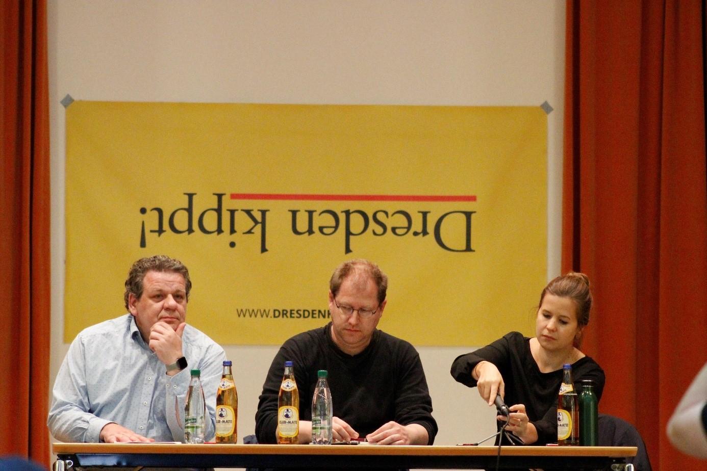 Uwe Brückner (li.) und David Begrich auf dem Podium. Quelle: Matthias Schwarz